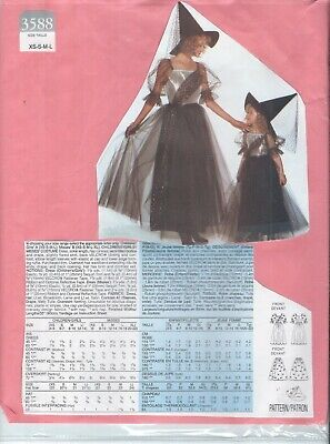 Butterick 3588 Misses' & Girls' Matching WITCHES Halloween Costume Pattern UNCUT