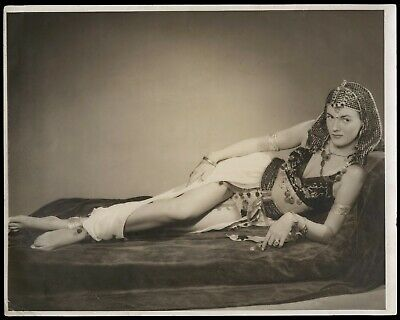 Bunny Yeager Estate 1950s Self Portrait Photograph As Cleopatra Sepia Oversized