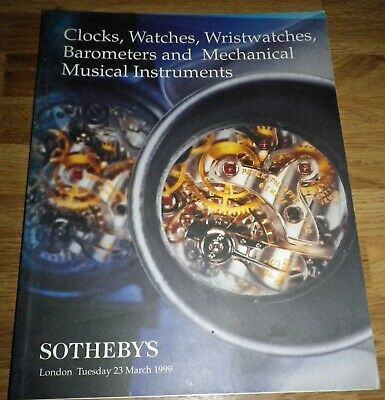 Sotheby's Auction Catalogue Clocks Watches Barometers Wristwatches 1999