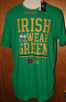 new arrival 31e5d 24fe5 MEN'S UNDER ARMOUR Notre Dame Irish Wear Green Short Sleeve T Shirt Choose  Size
