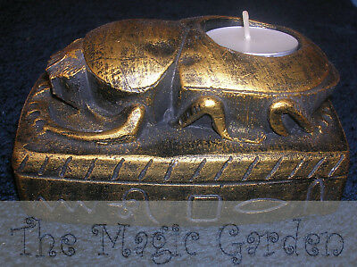 Egyptian scarab beetle candle holder cement plaster craft latex moulds molds