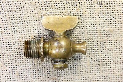 "old brass valve blow off Hit Miss gas steam engine Tractor 1/4"" MIP used vintage"