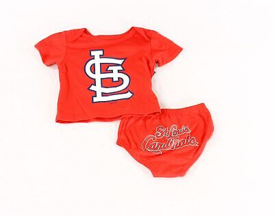 Genuine Merchandise NEW Red Boys Size 0-3 Months St. Louis Cardinals Set $30 473