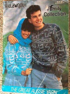 Vintage Villawool Knitting Pattern Book No. 39 Family Collection