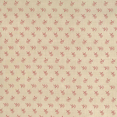 Moda French General Petite Prints Deux Cocoette Fabric in Oyster 13754-14