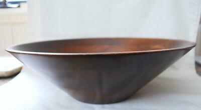 MCM 1960s Large Flared Salad Bow Walnut Wood  Made by Vermillion Springfield MO