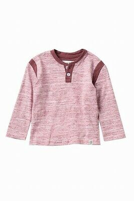 Sovereign Code Baby Boys Shirt Red Size 12 Months Long Sleeve Henley $34 077