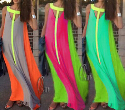 WHOLESALE BULK LOT 10 MIXED COLOUR SIZE Chiffon Beach Maxi Dress Cover up dr161