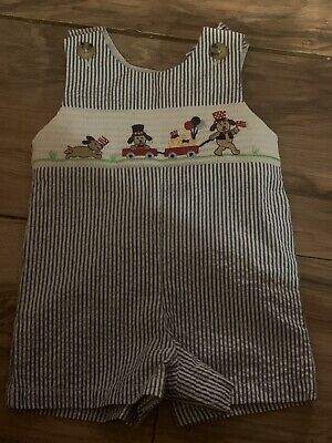 Good Lad Boys Boys Romper 4th Of July Size 3 Months Outfit Smocked Nwt