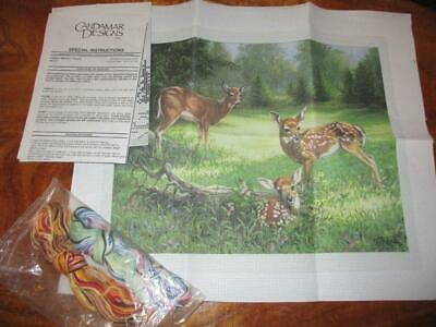 "1998 CANDAMAR DESIGNS Cross Stitch UNWORKED ""LINDA PICKEN"" Summer Meadow ""Deer"""