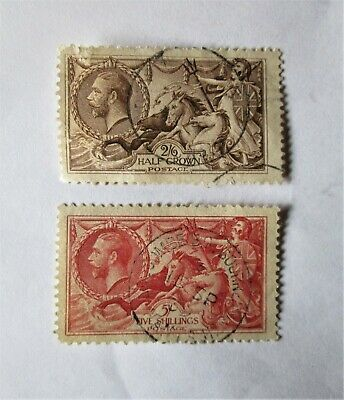 Great Britain - Nice Seahorse Stamps. Used. Cat.Val. $550.