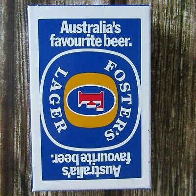 Vintage Fosters Lager Beer Playing Cards - cards sealed in plastic NEW