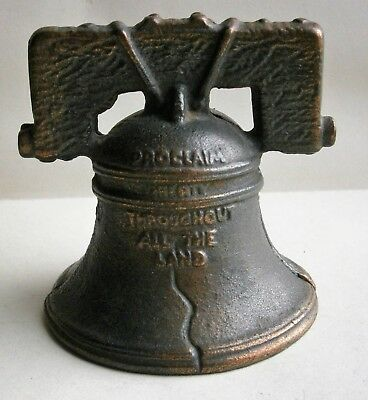 Liberty Bell with Yoke  Still Bank / Money Box made in USA, vintage