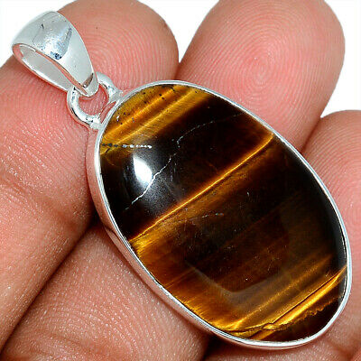 Tiger Eye - South African 925 Sterling Silver Pendant Jewelry AP101610