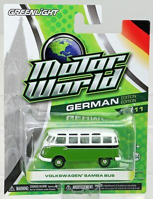 Greenlight MOTOR WORLD series 9 Volkswagen Samba Bus  orange /& black