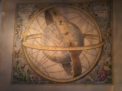 A Vintage Restrike Hand Coloured Celestial Map  #4