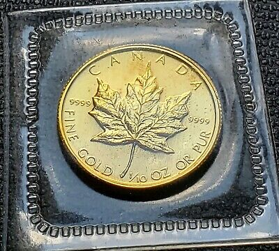 1987 Canada Pure 9999 1/10 oz $5 Gold Maple Leaf - Mint Condition SEALED
