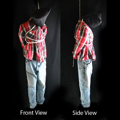 """Life-size 6' Hanging Man Scary Zombie Haunted House Halloween Life Size Prop 72"""""""