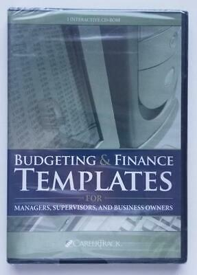 Budgeting & Finance Templates For Managers, Supervisors & Business Owners (2007)