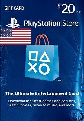 PSN Gift Card $20 USD - 20 Dollar Playstation