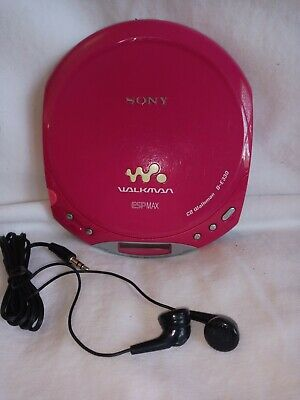 Sony D-E330 Cd Player Walkman Esp Max (Candy Pink) W/ New Ear Phones Works Great