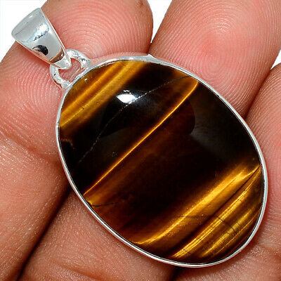 Tiger Eye - South African 925 Sterling Silver Pendant Jewelry AP101607