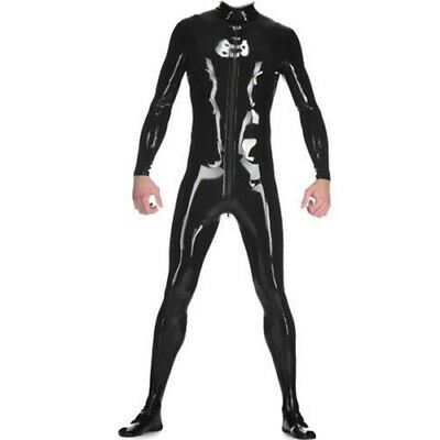 100% Latex catsuit Ganzanzug Catsuit Sport Bodysuit Sports Tights Suit S-XXL