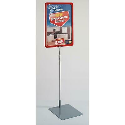 Eco Showcard Stand - A4 Frame Red