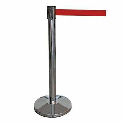 R203 - Retractable Barrier Post with 2 Metre Red Webbing