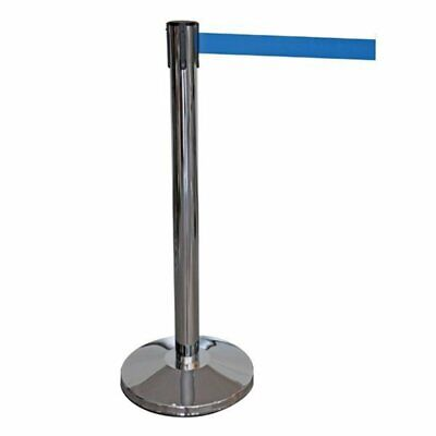 R204 - Retractable Barrier Post with 2 Metre Blue Webbing