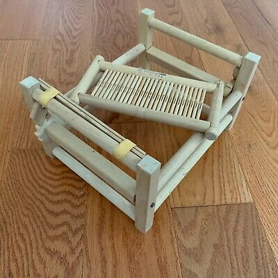 "The Handcrafters PEACOCK 6"" Wooden Weaving Loom w/ Instructions"