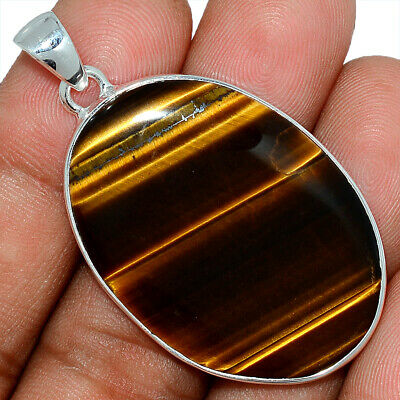 Tiger Eye - South African 925 Sterling Silver Pendant Jewelry AP101609