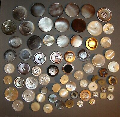 Large Lot Antique Mother of Pearl MOP Buttons