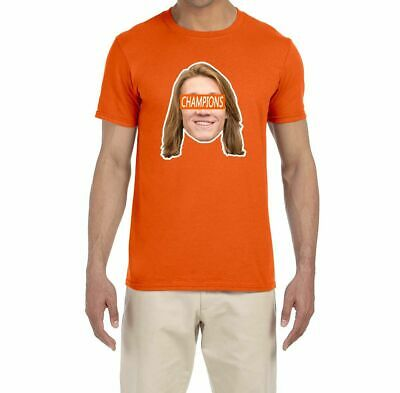 Clemson Tigers Trevor Lawrence National Champions Face T-Shirt