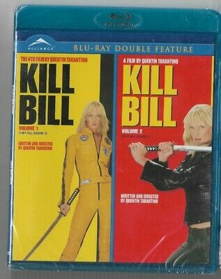 Sealed New Blu-Ray Disc - Double Feature - Kill Bill Vol 1 & 2   Also In French