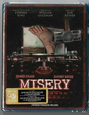 Sealed New Blu-Ray Disc - MISERY - James Caan - Kathy Bates   Also In French