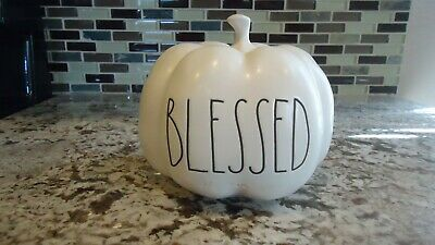 Rae Dunn Small White Pumpkin Blessed New