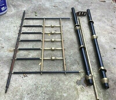 Antique Vintage Old Brass Bed Pieces