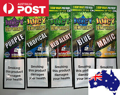 FREE SHIPPING Juicy Jay's Flavoured Blunt Wraps 4 FOR $12.95 Hemp Tobacco Free