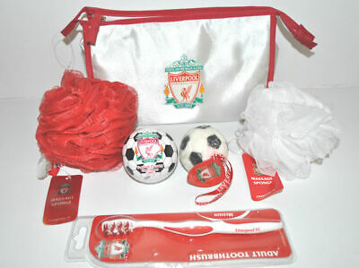 Liverpool FC Football Washbag Official Gift Set White BNWT