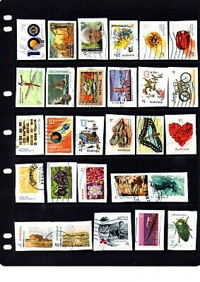 Collection of  recent Australian $1.00 stamps -  Kiloware - Lot 521. Free Post.
