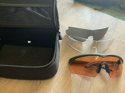 SWISS EYE ballistic glasses 3 lenses & Case Military airsoft, cycling, shooting
