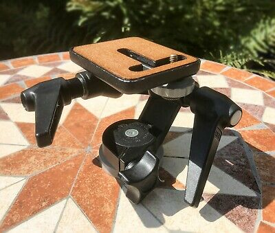 Manfrotto #115 3-way pan & tilt tripod head - perfect match for Benbo tripods