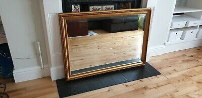 Gold Wall Mirror French Vintage Style Antique Gilt 103cm x 73cm Bevelled Glass