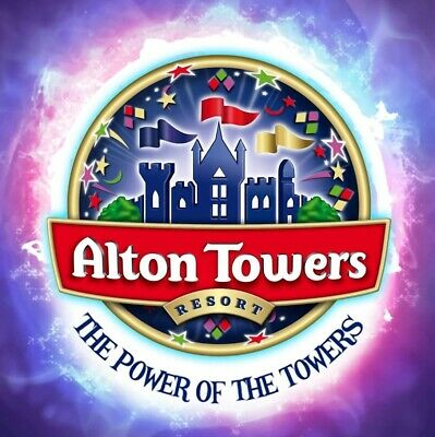 4 x ALTON TOWERS TICKETS -For Sunday 25th August 25.08.2019 Same Day Delivery