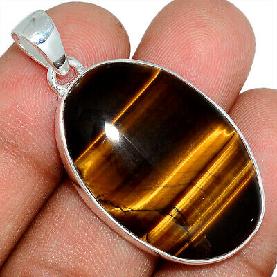Tiger Eye - South African 925 Sterling Silver Pendant Jewelry AP101611