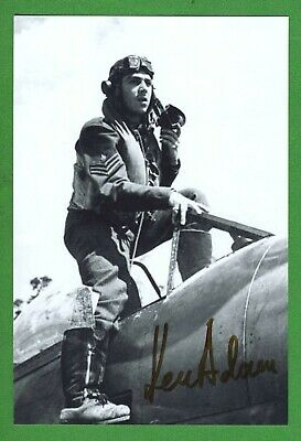 Ken Adam Prod. Design James Bond Films, WWII RAF Pilot Signed 4x6 Photo E19296
