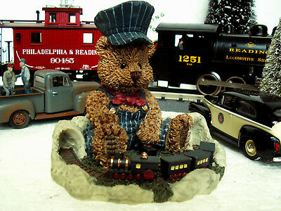 Windsor Bears of Cranbury Commons Tyler Lil Conductor Papal Giftware #63550 LN!