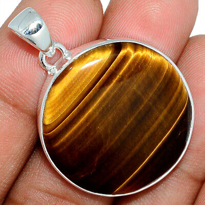 Tiger Eye - South African 925 Sterling Silver Pendant Jewelry AP101615