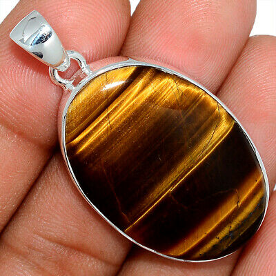 Tiger Eye - South African 925 Sterling Silver Pendant Jewelry AP101618